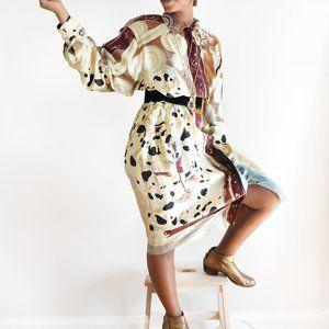 Vintage Louis Feraud Silk Belted Dress